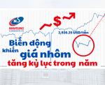 giá nhôm tăng kỷ lục